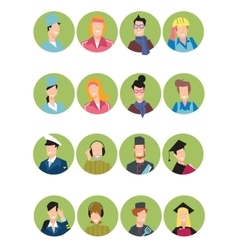 Set of avatars people vector image vector image