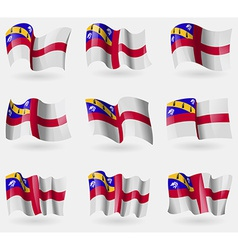Set of herm flags in the air vector