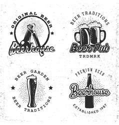 Set of logos beer concepts Labels in retro vector image