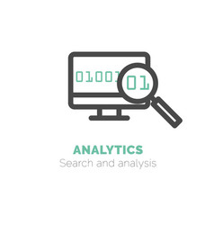 simple icon of analytics flat bicolor line vector image