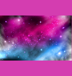 Space background colorful starry nebula milky vector