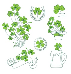 st patricks day elements set vector image vector image