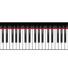 Standard piano keyboard vector