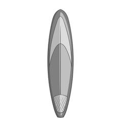 Vintage surfboard icon gray monochrome style vector