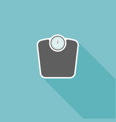 weight scale with long shadow icon vector image