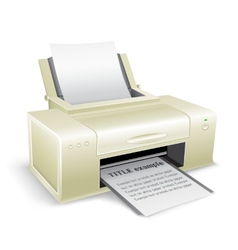 white printer vector image
