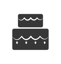 Cake silhouette icon bakery design vector