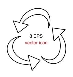Recycle arrow sign vector