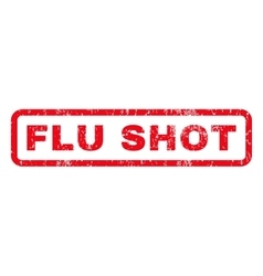 Flu shot rubber stamp vector
