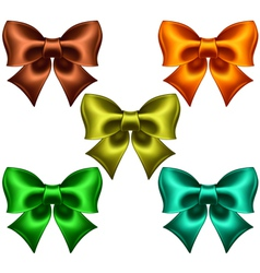Colored bows vector