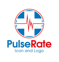 pulse rate vector image