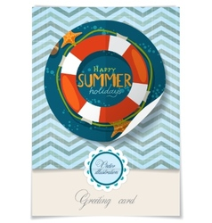 Greeting card design template vector
