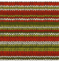 Seamless pattern with knitted stripes vector