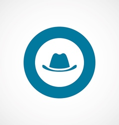 Classic hat bold blue border circle icon vector