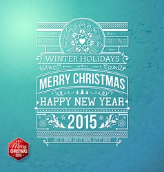 Christmas typography for your winter holidays vector