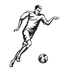 The athlete playing football vector