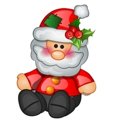 Traditional santa claus sits isolated character vector