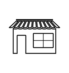 Shop line icon vector