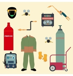Set welding equipment vector