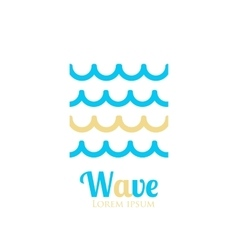 Abstract wavy icon Company logo or presentations vector image