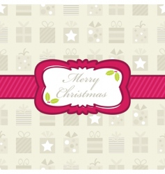 Christmas gift wrapping vector image vector image