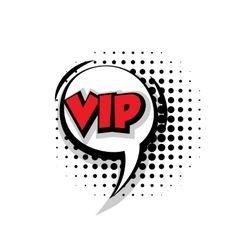 Comic text vip sound effects pop art vector