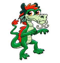 cute asian dragon vector image vector image