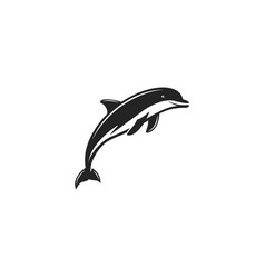 dlphin black icon silhouette symbol of dolphin vector image