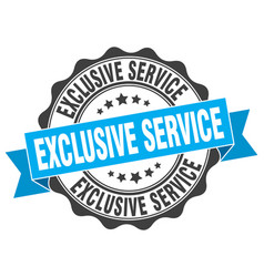 exclusive service stamp sign seal vector image vector image