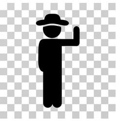 Gentleman vote icon vector