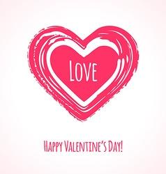 Grunge pink heart vector