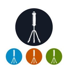 Hand Rake Icon Garden Fork Icon vector image vector image
