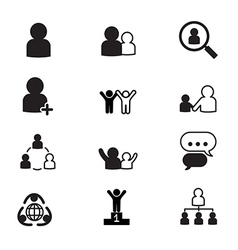 human resource management icons set vector image