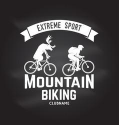 Mountain biking clubname vector
