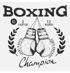 Old boxing gloves vector image vector image
