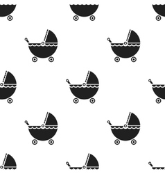 Pram black icon for web and mobile vector image vector image