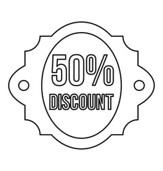 Sale 50 percent off discount lable icon vector