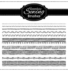 set of sewing brushes vector image