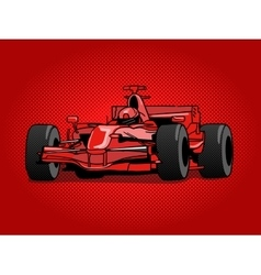 Sport race car pop art style vector image