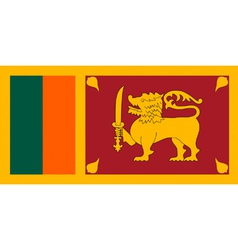 Sri Lankan flag vector image vector image