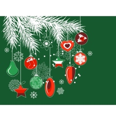 stylized christmas decorations vector image vector image