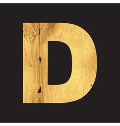 Uppercase letter d of the english alphabet vector