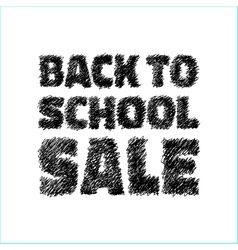 Hand drawn with pen back to school sale icon vector