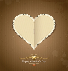 Happy valentine day paper classic vector