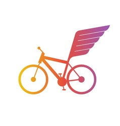 Cycling flat logo bicycle team icon vector