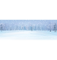 winter fores background vector image