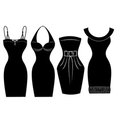 Woman party dress vector