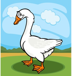 Goose bird farm animal cartoon vector