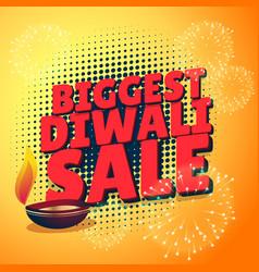 biggest diwali sale discount offer presentation vector image