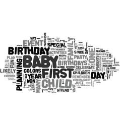 Baby birthdays text word cloud concept vector